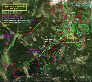 Itinerario con sectores Trail RAE Absoluta